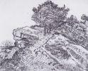 Van Gogh Felshügel mit Bäumen Montmajour